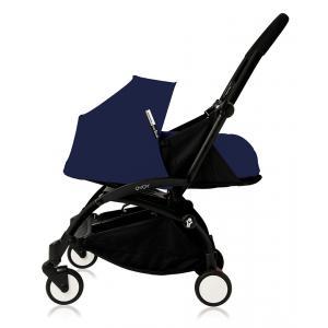 Babyzen - Bu085 - Poussette Yoyo plus cadre noir pack naissance Bleu Air France (368020)