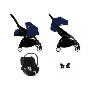 Babyzen - Bu088 - Poussette Yoyo plus Bleu Air France cadre noir habillages 0+ et 6+ et siège auto Besafe noir (368026)