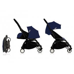 Babyzen - Bu088 - Poussette Yoyo plus complète cadre noir habillages 0+ et 6+ Bleu Air France et si (368026)