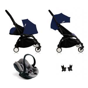 Babyzen - Bu089 - Edition spéciale Nouvelle poussette Babyzen Yoyo plus complète cadre noir habillages 0+ et 6+ Bleu Air France et siège auto Babyzen Besafe gris (368028)