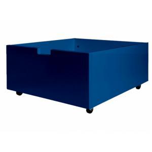 Bopita - 384625 - tiroir de rangement/jouets bas à roulettes BLEU FONCÉ (368416)