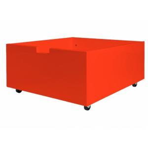 Bopita - 384606 - tiroir de rangement/jouets bas à roulettes ROUGE (368442)