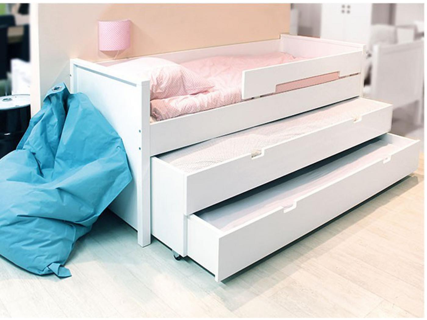 Bopita 2 tiroirs de rangement blanc for Rangement tiroir blanc