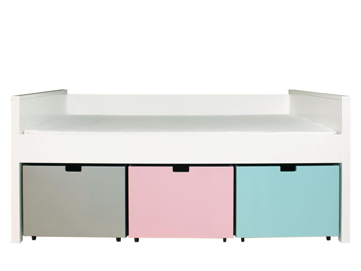 bopita lit compact timo twin blanc tiroirs non inclus 120x200. Black Bedroom Furniture Sets. Home Design Ideas