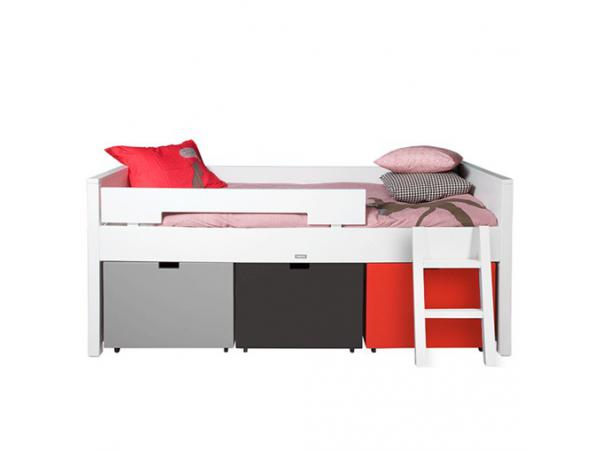 bopita lit compact timo blanc tiroirs non inclus 90x200. Black Bedroom Furniture Sets. Home Design Ideas