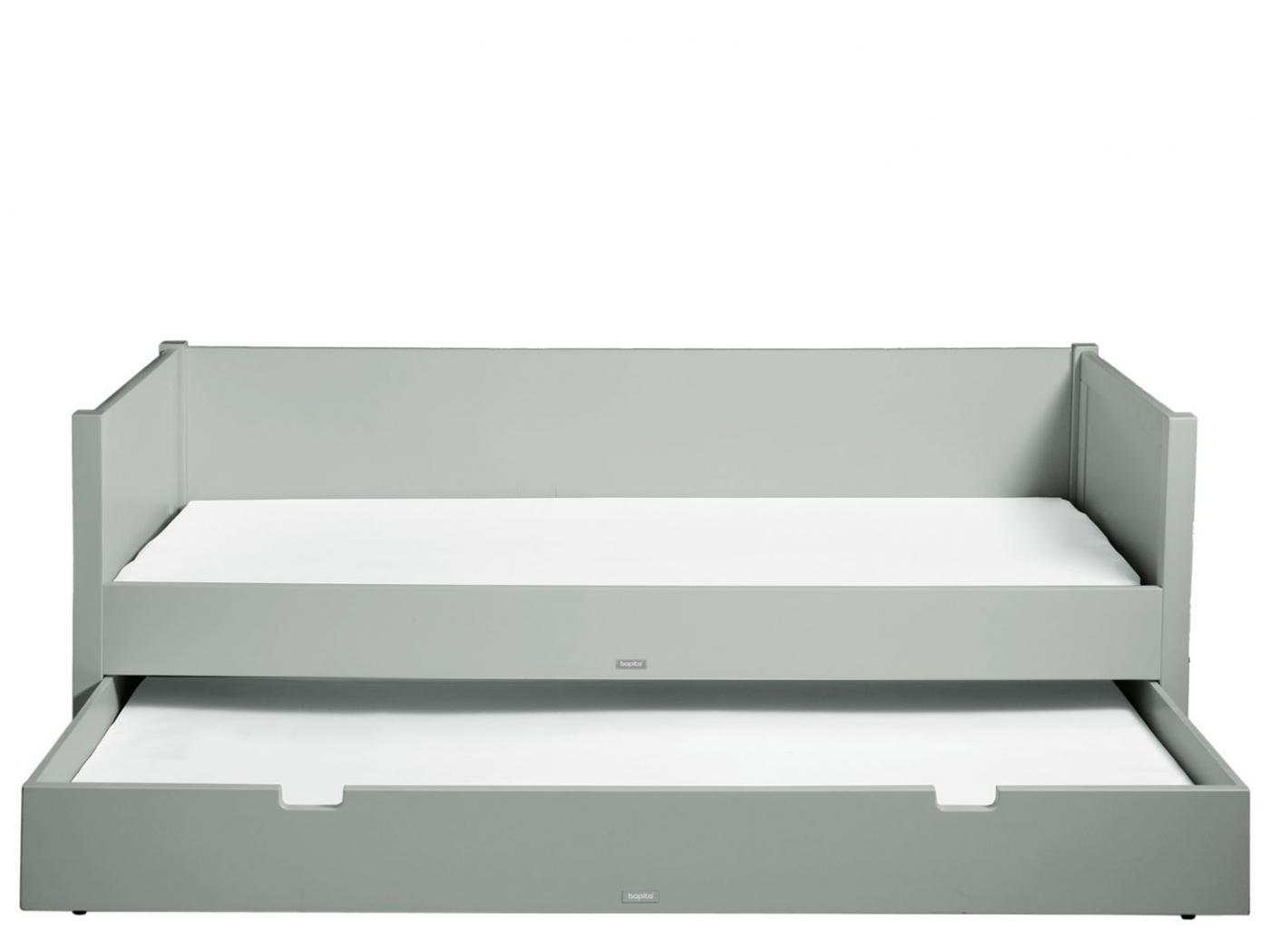 bopita lit banquette 90x200 stan gris pure. Black Bedroom Furniture Sets. Home Design Ideas