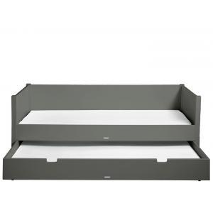 Bopita - 495720 - Lit banquette STAN gris foncé - 90x200 cm (368566)