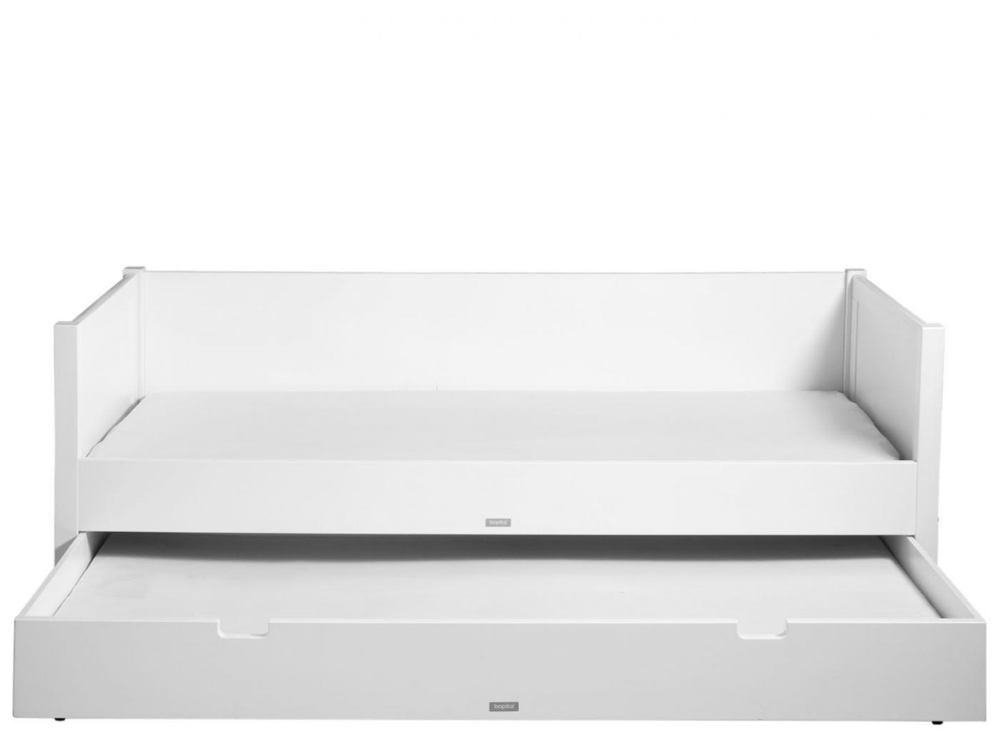 bopita lit banquette 90x200 stan blanc. Black Bedroom Furniture Sets. Home Design Ideas