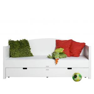 Bopita - 494611 - Lit banquette 90X200 BORIS blanc (368570)