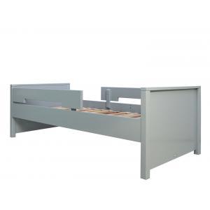 Bopita - 549996 - Lit 90X200 JONNE gris pure (Incl. 2 Barres de protection) (368576)