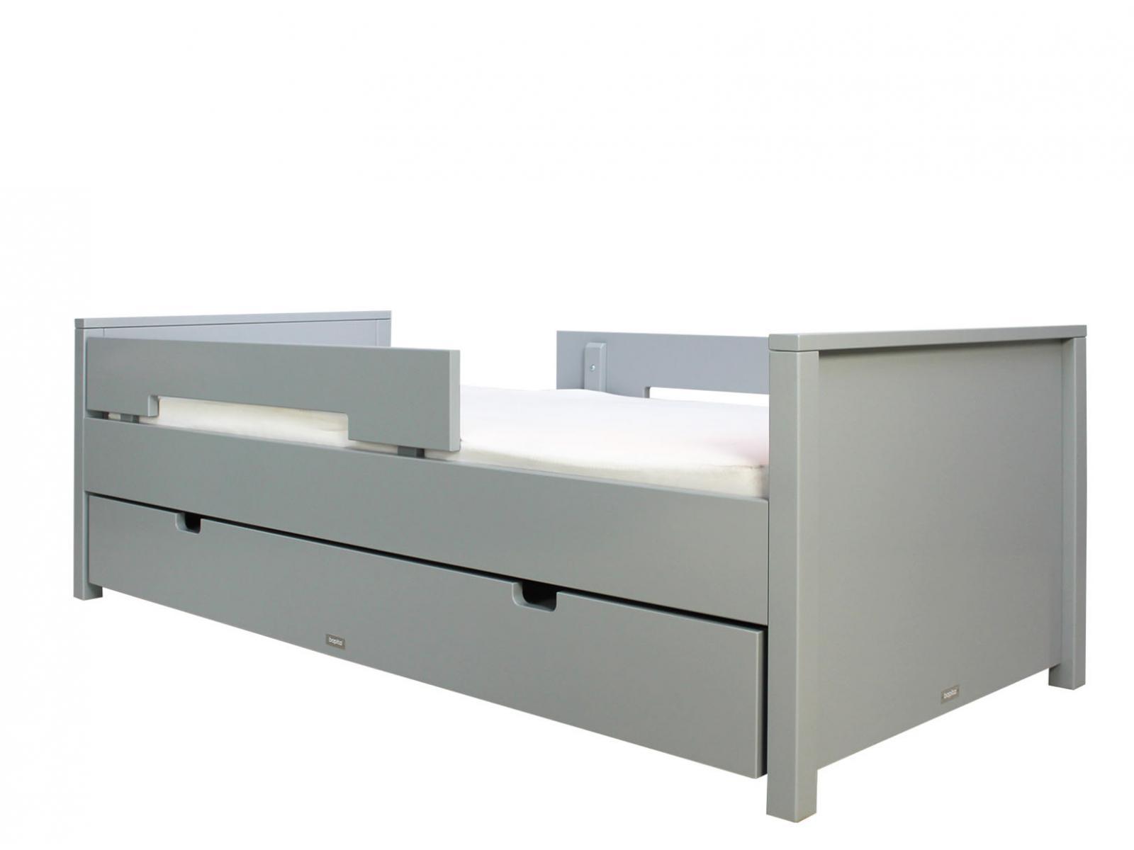 bopita lit 90x200 jonne gris pure incl 2 barres de protection. Black Bedroom Furniture Sets. Home Design Ideas