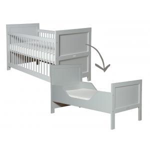 Bopita - 244696 - Lit bébé évolutif Mix & Match gris clair - 70x140 cm (368636)
