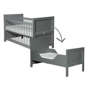 Bopita - 244620 - Lit bébé évolutif Mix & Match gris foncé - 70x140 cm (368646)