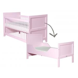 Bopita - 244609 - Lit bébé évolutif Mix & Match rose clair - 70x140 cm (368648)