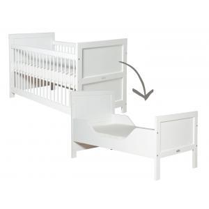 Bopita - 244611 - Lit bébé évolutif Mix & Match blanc - 70x140 cm (368656)