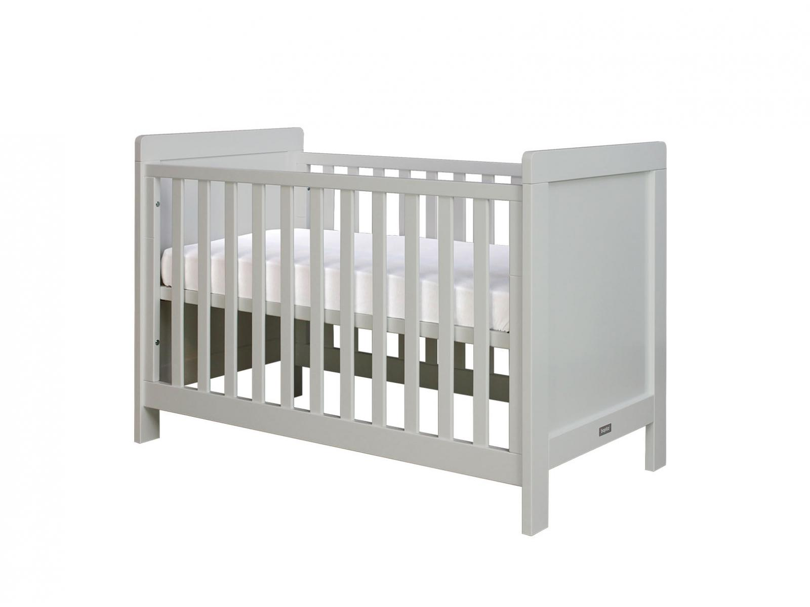 bopita lit b b sven gris clair barreaux plats 60x120 cm. Black Bedroom Furniture Sets. Home Design Ideas