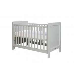 Bopita - 11401796 - Lit bébé Sven gris clair (barreaux plats) - 60x120 cm (368662)