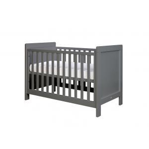 Bopita - 11401720 - Lit bébé Sven gris foncé (barreaux plats) - 60x120 cm (368666)