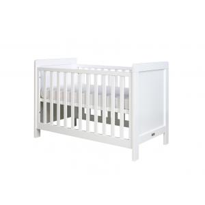 Bopita - 11401711 - Lit bébé Sven blanc (barreaux plats) - 60x120 cm (368668)