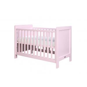 Bopita - 11401709 - Lit bébé Sven rose clair (barreaux plats) - 60x120 cm (368670)
