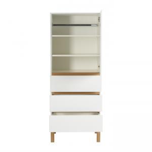 Quax - 54045414-1D - Armoire Indigo 1 porte et 2 tiroirs - blanc (368798)