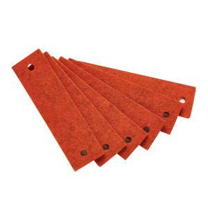 Leander - 790163-36 - Poignets en feutre, Orange pour commode 3 tiroirs Linea (368914)
