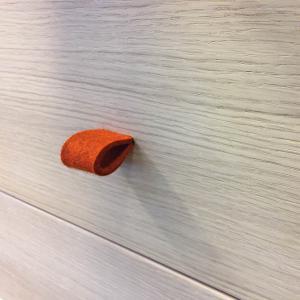 Leander - 502660 - Poignets en feutre, Orange pour commode 3 tiroirs Linea (368914)
