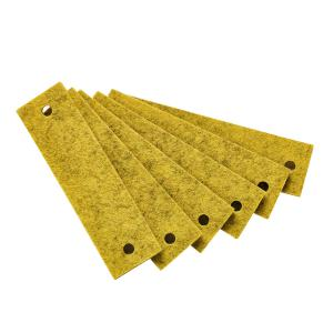 Leander - 502653 - Poignets en feutre, Curry pour commode 3 tiroirs Linea (368916)