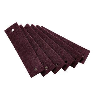 Leander - 790163-34 - Poignets en feutre, Prune pour commode 3 tiroirs Linea (368918)