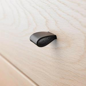 Leander - 502271 - Poignets en cuir, Noir pour commode 3 tiroirs Linea (368922)