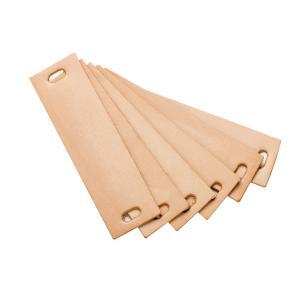 Leander - 790164-05 - Poignets en cuir, Naturel pour commode 3 tiroirs Linea (368928)