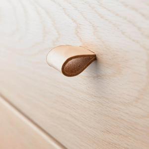 Leander - 502189 - Poignets en cuir, Naturel pour commode 3 tiroirs Linea (368928)