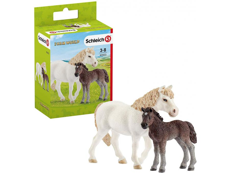 schleich figurine ponette et poulain 8 9 cm x 5 6 cm x 13 7 cm. Black Bedroom Furniture Sets. Home Design Ideas