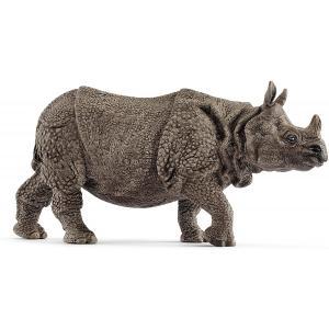 Schleich - 14816 - Figurine Rhinocéros indien - Dimension : 13,9 cm x 4,4 cm x 6,7 cm (369570)