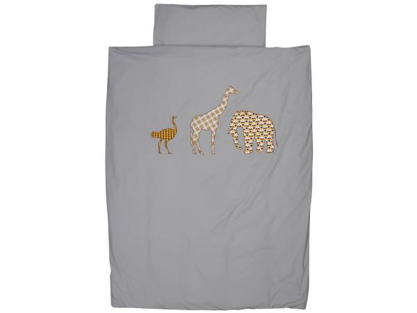 Taftan housse de couette safari grey yellow brown for Housse de couette 120 x 150