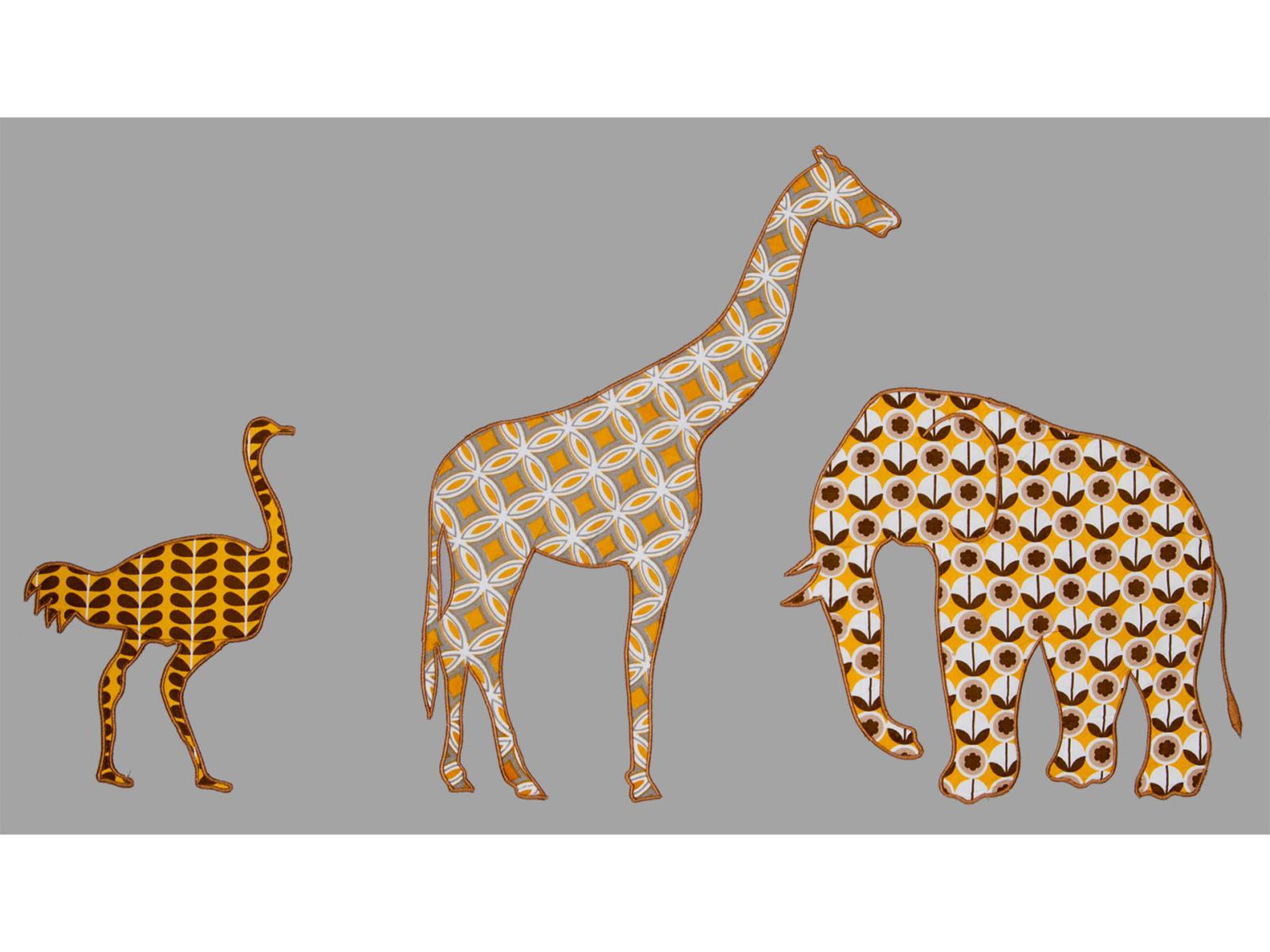 taftan housse de couette safari grey yellow brown 120 x 150. Black Bedroom Furniture Sets. Home Design Ideas