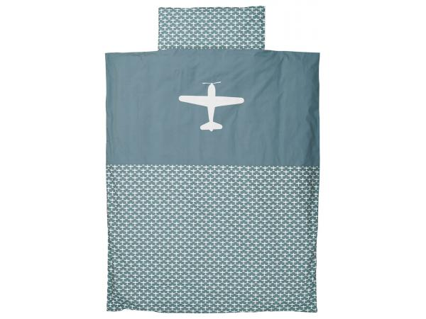 Taftan housse de couette airplane grey blue 120 x 150 for Housse de couette 75 x 120