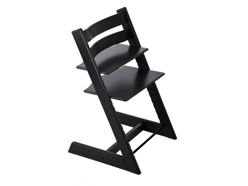 stokke chaise haute tripp trapp noir personnalisable. Black Bedroom Furniture Sets. Home Design Ideas