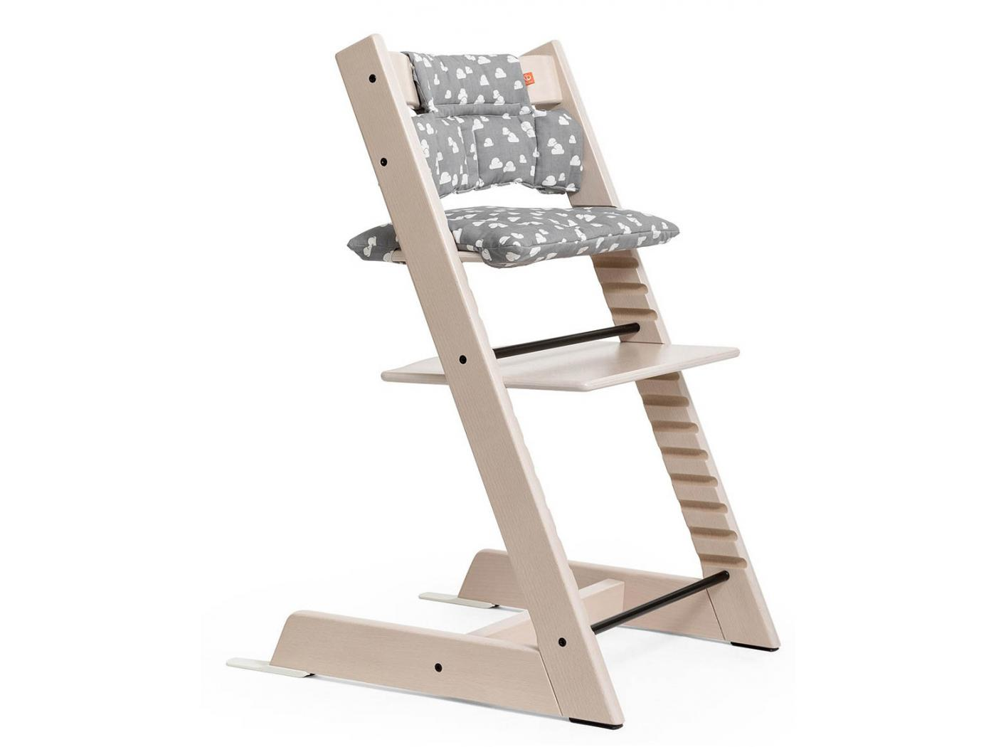 Stokke - Chaise haute Tripp Trapp Blanchi - Personnalisable