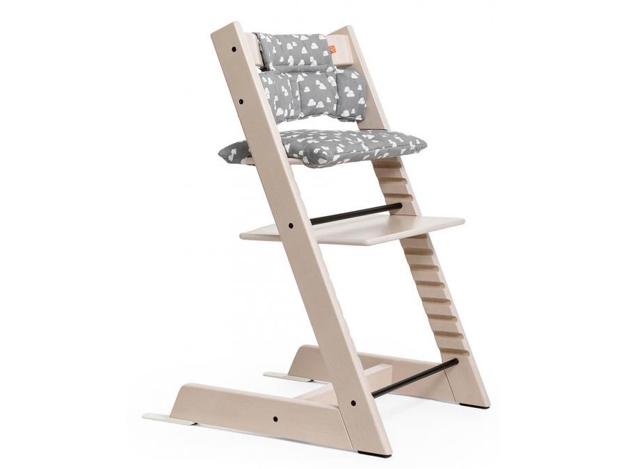 Stokke chaise haute tripp trapp blanchi personnalisable - Chaise haute tripp trapp ...