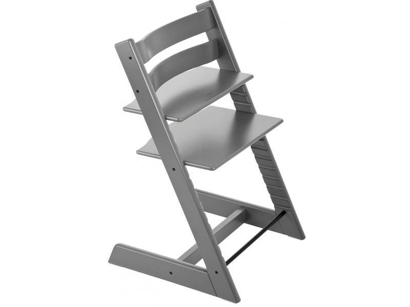 Stokke chaise haute tripp trapp gris temp te personnalisable - Harnais chaise tripp trapp ...