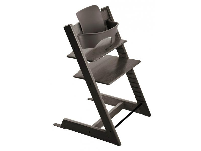 stokke chaise haute tripp trapp gris brume personnalisable. Black Bedroom Furniture Sets. Home Design Ideas