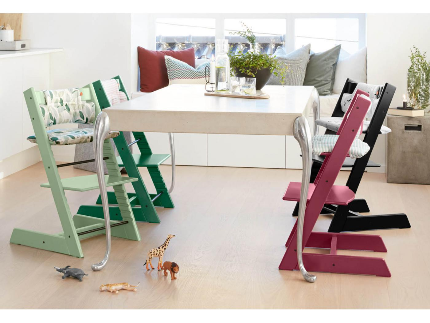 stokke chaise haute tripp trapp vert mousse personnalisable. Black Bedroom Furniture Sets. Home Design Ideas