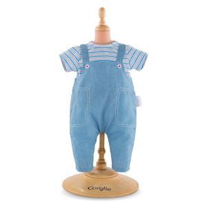 Corolle - FPP35 - Tshirt rayé & salopette pour bébé 30 cm à partir de 18 mois (371280)