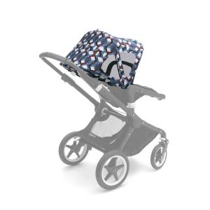 Bugaboo - 230312FB01 - Bugaboo Fox/Cameleon3 capote à fenêtres Waves (371576)