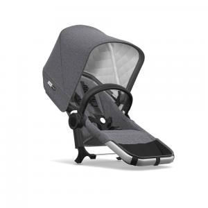 Bugaboo - 180133AE01 - Ensemble d'extension Donkey2 classique duo ALU/ GRIS CHINÉ (371654)