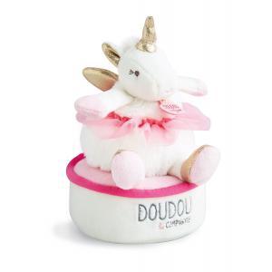 Doudou et compagnie - DC3316 - Licorne - boite à musique tournicoti (372134)