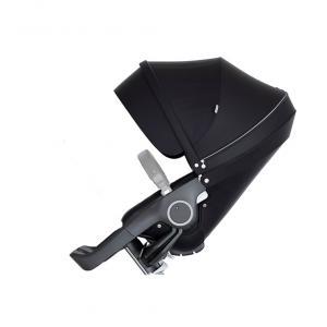 Stokke - 509704 - Nouveau siège de poussette Noir compatible avec les nouveaux chassis Trailz et Xplory V6 (372394)