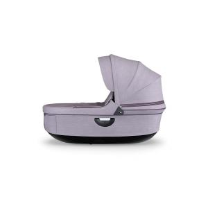 Stokke - 504008 - Nacelle complète : Base noire - habillage et capote Lila Brossé pour poussette Trailz (372458)