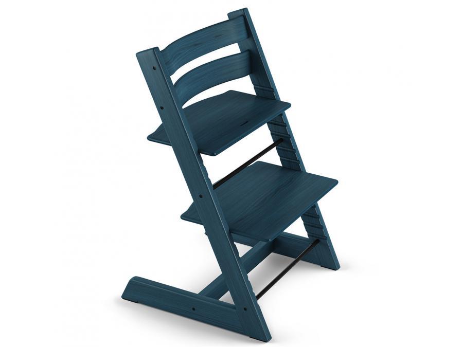 Stokke chaise haute tripp trapp bleu nuit - Harnais chaise tripp trapp ...
